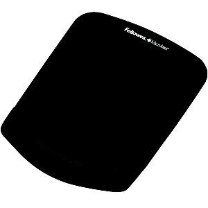 Fellowes Foam Fusion PlushTouch Alfombrilla de ratón y reposamuñecas, negro