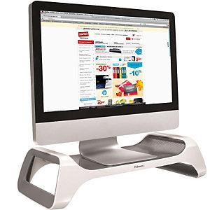Fellowes I-Spire Soporte de monitor, plástico ABS, blanco y gris
