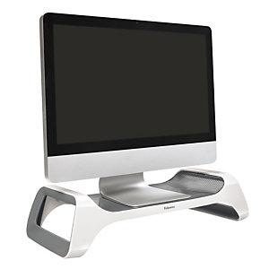 Fellowes I-Spire, Supporto monitor, Plastica ABS, Bianco e grigio