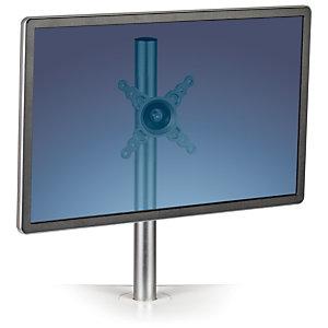 Fellowes Lotus™ Kit de soporte para un solo monitor, aluminio, 42 x 11 x 14 cm, plateado