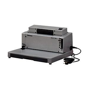 Fellowes Metal E 200R Encuadernadora eléctrica de espiral metálica 450 hojas (80 g/m²) con espiral de 50 mm, A4