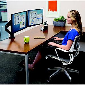 Fellowes Platinum Series Soporte doble para monitores, aluminio, amortiguación a gas, hasta 27''