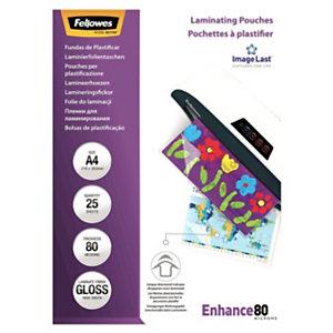 Fellowes Pochettes de plastification ImageLast A3 - Epaisseur : 80 microns par face - Boîte de 25