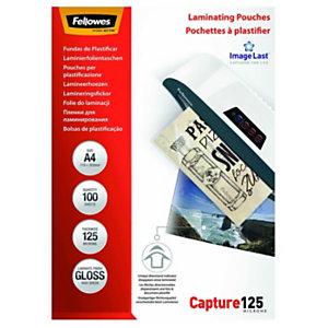 Fellowes Pochettes de plastification ImageLast A4 - Epaisseur : 125 microns par face - Boîte de 100