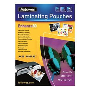 Fellowes Pochettes de plastification ImageLast A4 - Epaisseur : 80 microns par face - Boîte de 25