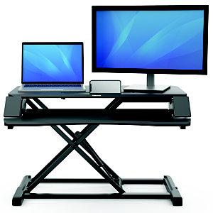 Fellowes Postazione lavoro Sit Stand Corsivo, Nero, cm 80 x 61 x 11,1 h.