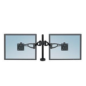 """Fellowes Professional Series Braccio doppio per monitor con profondità regolabile, Fino a 27"""""""