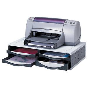 Fellowes Support écran et imprimante - Gris et noir