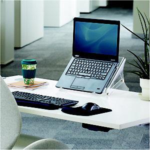 Fellowes Support pour ordinateur portable Clarity, réglable en hauteur, en acrylique transparent