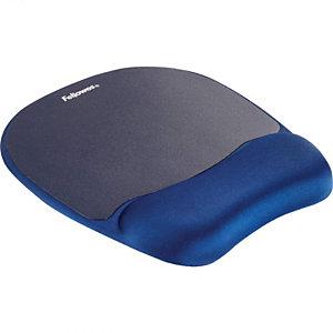 Fellowes Tappetino mouse con poggiapolsi Memory, Blu