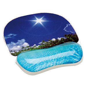 """Fellowes Tappetino mouse """"Photo gel"""" - Spiaggia"""