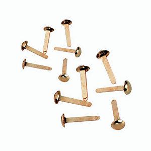 Fermacampioni in ottone - Lunghezza mm 27 (confezione 100 pezzi)