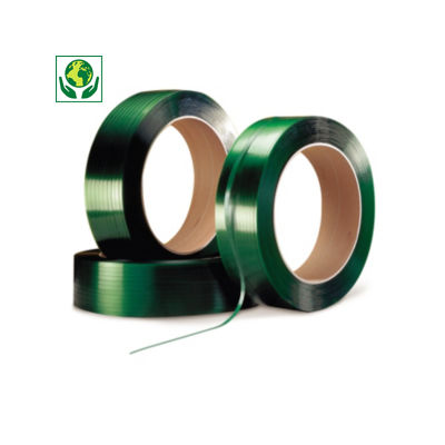 Feuillard de cerclage polyester qualité industrielle##Polyesterband voor omsnoering