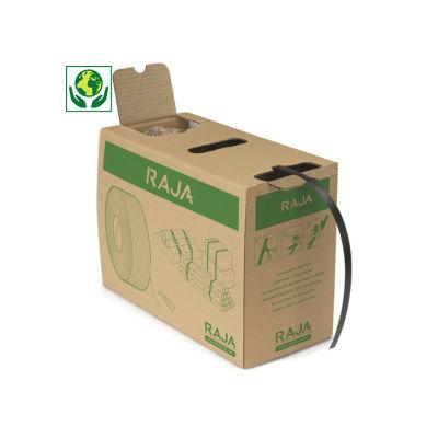 Feuillard polypropylène 97% recyclé en boîte distributrice RAJASTRAP