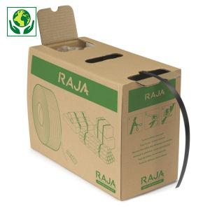 Feuillard polypropylène recyclé en boîte distributrice RAJA