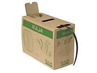 Feuillard polypropylène recyclé en boîte distributrice RAJASTRAP