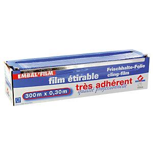 Film alimentaire en rouleau de 300 m x 30 cm, le lot de 2