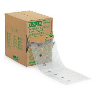 Film bulles recyclé prédécoupé ⌀ 10 mm en boîte distributrice RAJA
