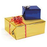 Film métallisé pour paquets-cadeaux couleur réversible