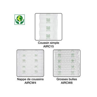 Film polyéthylène 50 % recyclé pour système de calage air RAJA