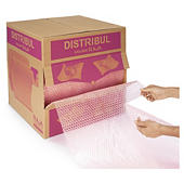 Filme plástico de bolhas de ar pré-cortado antiestático em caixa distribuidora DISTRIBUL