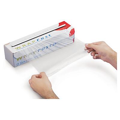 Filme transparente alimentar em caixa distribuidora