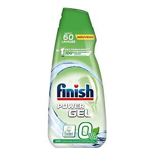 Finish Power Gel 0% Ecolabel, détergent pour lave-vaisselle, flacon 900 ml