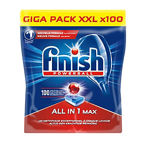 Finish Powerball All in One Max Tablettes Lave-vaisselle 100 doses