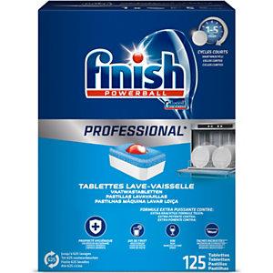 Finish Powerball Lavable a máquina, producto para lavavajillas  - 125 Unidades de 20 g