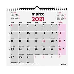 FINOCAM Calendario anual de pared 2021, con espacio diario para anotaciones, 265 x 245 mm, castellano