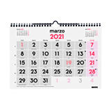 FINOCAM Calendario anual de pared 2021, números grandes, 300 x 210 mm, castellano