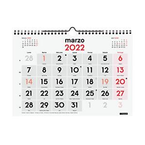 FINOCAM Calendario anual de pared 2022, números grandes, 300 x 210 mm, castellano