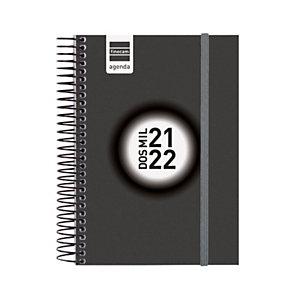 FINOCAM Espir Label Agenda escolar universal día-página curso 2021-22 tamaño 8º castellano