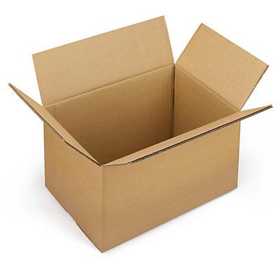 Firkantede papkasser i dobbelt bølgepap