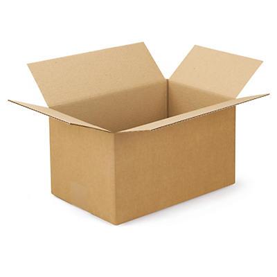 Firkantede papkasser i enkelt bølgepap