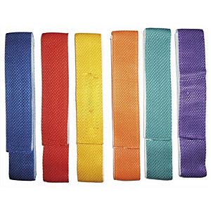 FIRST LOISIR Lot de 6 liens de coordination en tissu 60cm x 4 cm, avec bande VELCRO® couleurs assorties