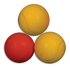 FIRST LOISIR Sachet de 3 balles de Tennis en mousse Basse Densité Ø 70 mm