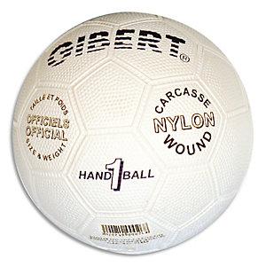 FIRST LOISIRS Ballon de hand, officiel, caoutchouc sur carcasse Nylon, taille 1 = Junior Modèle: Caoutgri