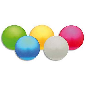 FIRST LOISIRS Lot de 5 ballons nacrés diamètre 12 cm poids 150g regonflables coloris assortis
