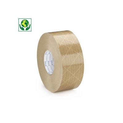 Fita de papel gomado reforçado com filamentos entrecruzados