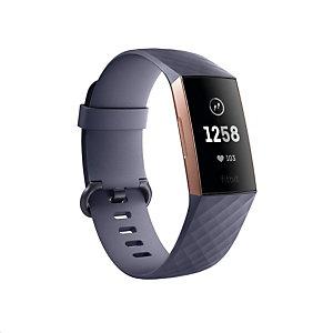 Fitbit Charge 3, Pulsera de actividad, Oro rosa, Aluminio, Azul, S/L, 50 m FB409RGGY-EU