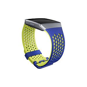 Fitbit FB-164SBBUL, Fitbit, Azul, Cal, Aluminio, Elastómero, L, Ionic, 170 - 205 mm FB164SBBUL