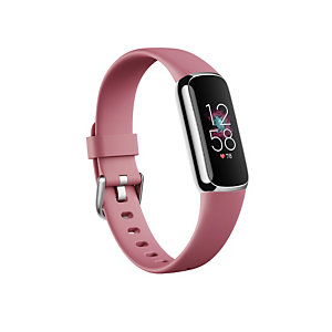 Fitbit Luxe, Pulsera de actividad, AMOLED, GPS (satélite), A prueba de agua, Rosa FB422SRMG