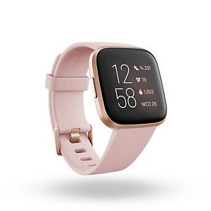 "Fitbit Versa 2, 3,55 cm (1.4""), AMOLED, Pantalla táctil, Wifi, 38 g, Negro, Oro rosa FB507RGPK"