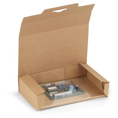Boîte avec calage film pour appareil compact et ordinateur portable##Fixierverpackungen mit antistatischer Folie für kompakte Geräte und Laptops