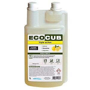 Flacon doseur vide 1 L pour Ecocub Cleaner Durasols Triple Action