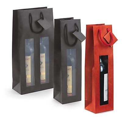 Flaschen-Tragetaschen mit Sichtfenster
