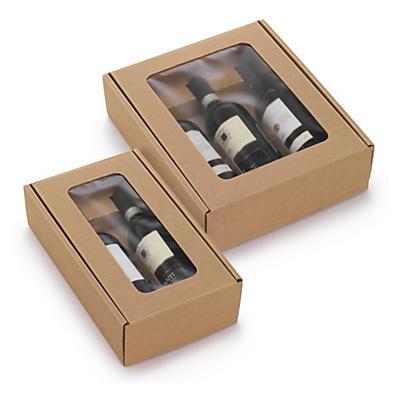 Flaskeæske med rude - Hevea