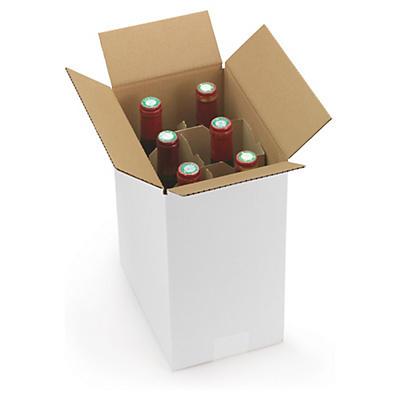 Flaskemballage med stående rumsdelning
