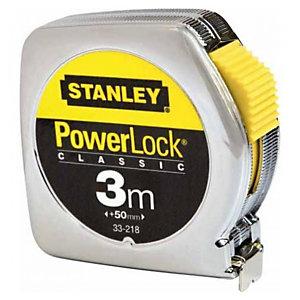 Flessometro PowerLock - 3 mt - larghezza nastro 12,7 mm - Stanley
